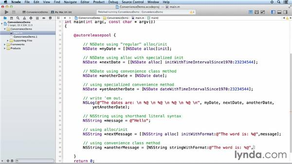 Autoreleased objects: Objective-C Essential Training