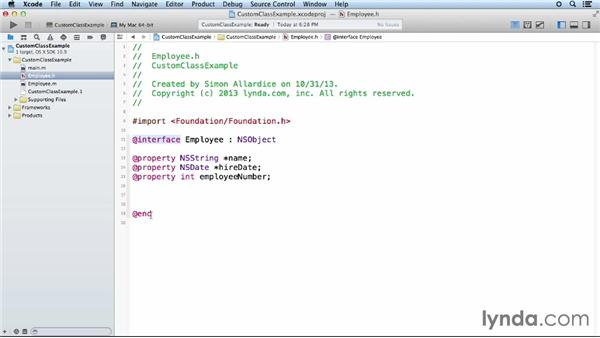 Creating your own classes: Objective-C Essential Training