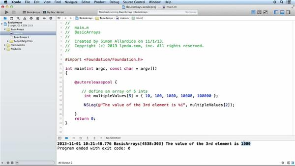 Working with C-style arrays: Objective-C Essential Training