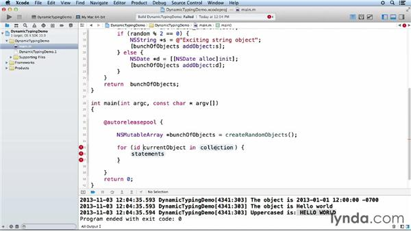 Dynamic typing in Objective-C: Objective-C Essential Training