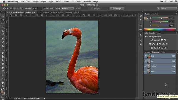 Using selections to create masks: Practical Photoshop Selections