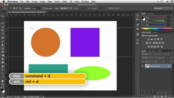 Marquee tools: Practical Photoshop Selections