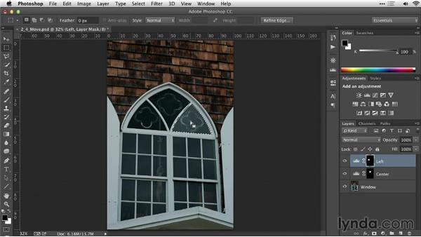 Moving a selection: Practical Photoshop Selections