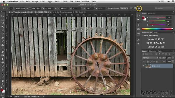Transforming a selection: Practical Photoshop Selections