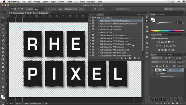 Saving a selection as an alpha channel: Practical Photoshop Selections