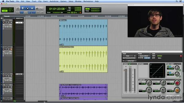 Using compression to add punch and sustain to drums: Get In the Mix with Pro Tools