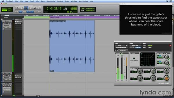 Gating a drum track: Get In the Mix with Pro Tools