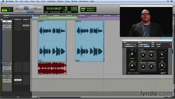 Using modulation for a chorus effect: Get In the Mix with Pro Tools