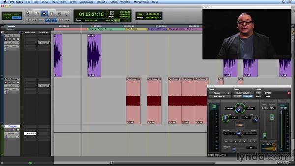 Creating a comb filter and a flange effect: Get In the Mix with Pro Tools