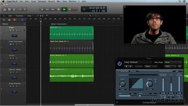Using compression to add punch and sustain to drums: Get in the Mix with Logic Pro