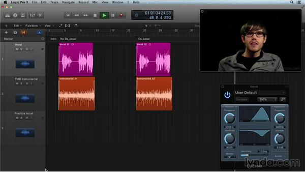 De-essing a vocal track: Get in the Mix with Logic Pro