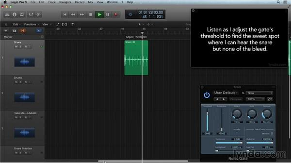 Gating a drum track: Get in the Mix with Logic Pro