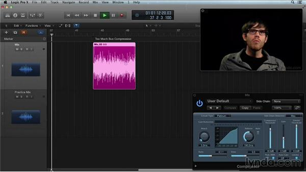Using mix buss compression: Get in the Mix with Logic Pro