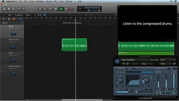 Working with parallel compression: Get in the Mix with Logic Pro