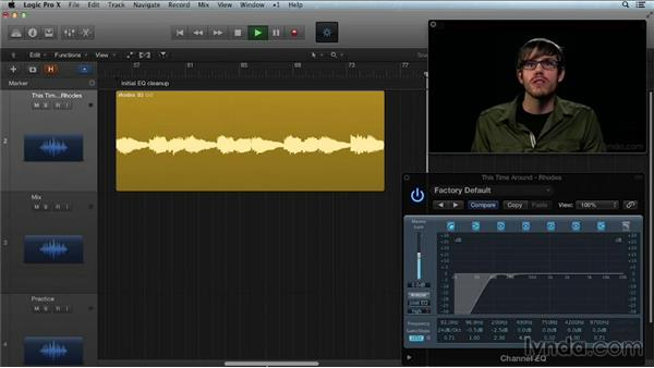 Using EQ to fix problems and place elements in the mix: Get in the Mix with Logic Pro