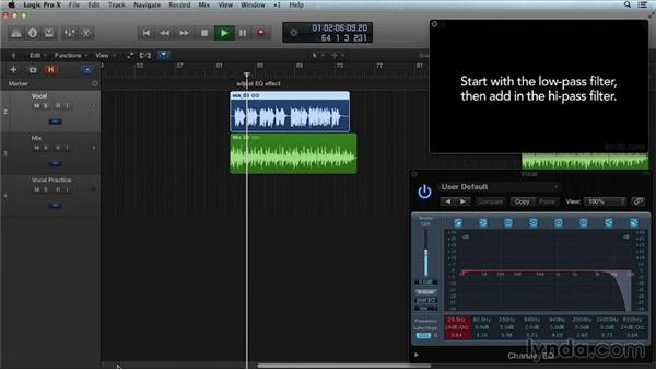 Creative EQ with the telephone effect: Get in the Mix with Logic Pro