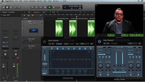 Creating slap-back echo with long delay: Get in the Mix with Logic Pro