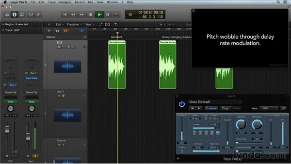 Modulation rate and depth: Get in the Mix with Logic Pro
