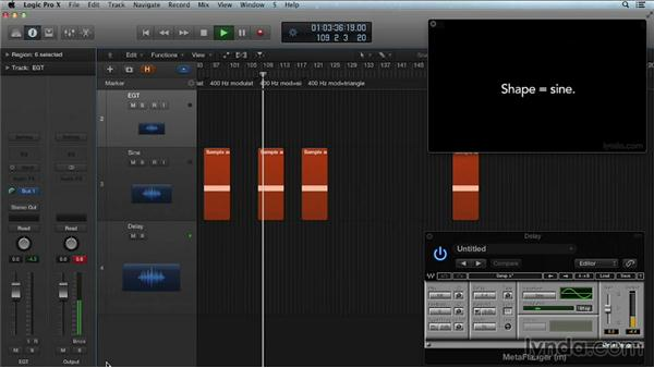 Modulation shape: Get in the Mix with Logic Pro