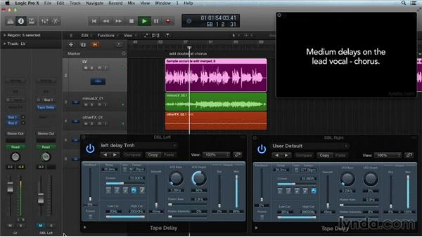Double tracking: Get in the Mix with Logic Pro