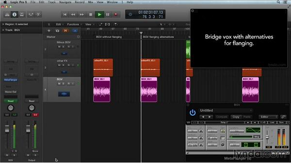 Flanger and phaser effects: Get in the Mix with Logic Pro