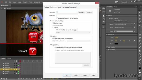 Publish Settings for AIR 3.8 for Android: Flash Professional: Creative Cloud Updates