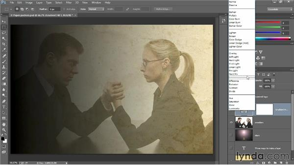 Blending layers: Introducing Photoshop: Design