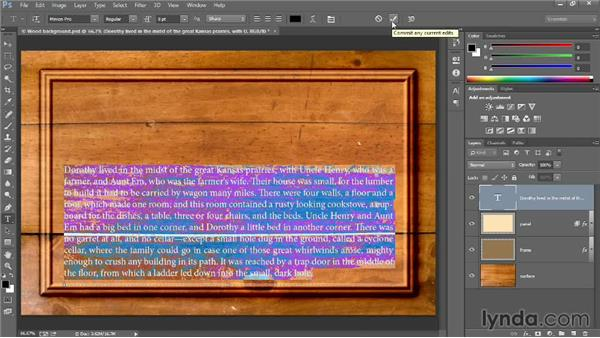 Creating and formatting type: Introducing Photoshop: Design