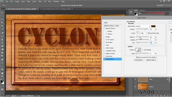 Drop shadow and Fill Opacity: Introducing Photoshop: Design
