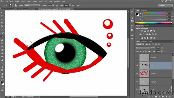 Painting inside a selection: Introducing Photoshop: Design