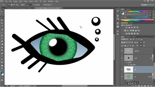 Adding gradients and patterns: Introducing Photoshop: Design