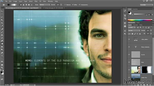 Using a layer mask: Introducing Photoshop: Design