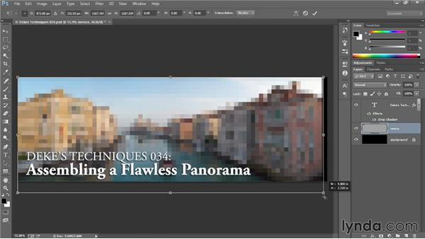 Placing an image as a Smart Object: Introducing Photoshop: Design