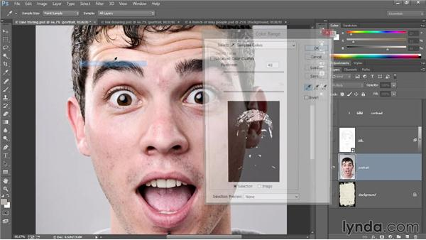 Adding shadows to line art: Introducing Photoshop: Design