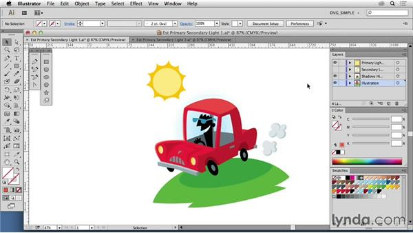 Establishing a primary light source: Drawing Vector Graphics: Color and Detail