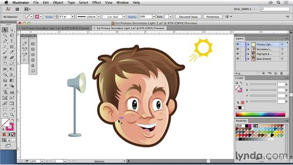 Establishing a secondary light source: Drawing Vector Graphics: Color and Detail