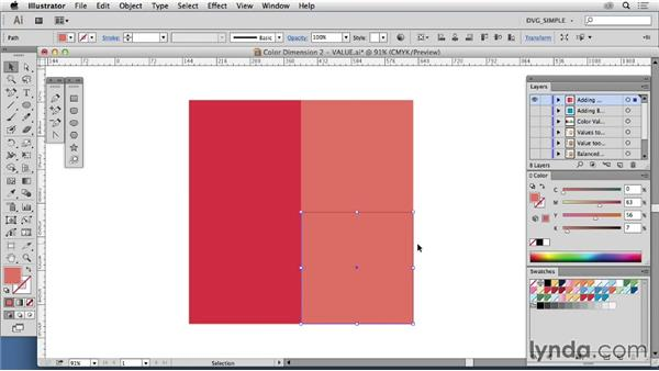 Color dimension two: Value: Drawing Vector Graphics: Color and Detail