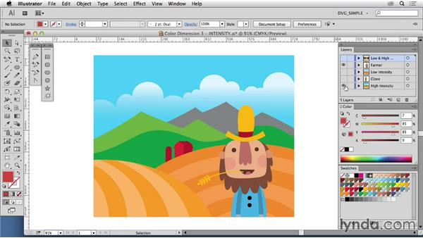 Color dimension three: Intensity: Drawing Vector Graphics: Color and Detail
