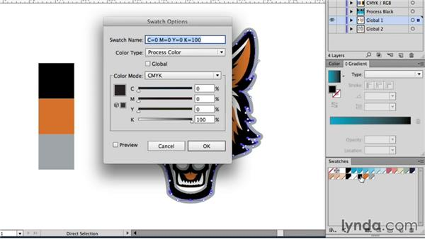 Creating a global color hierarchy: Drawing Vector Graphics: Color and Detail