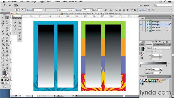 Using gradient blends: Blend modes and opacity: Drawing Vector Graphics: Color and Detail