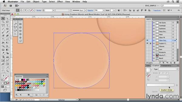 Using gradient blends: Transparencies: Drawing Vector Graphics: Color and Detail