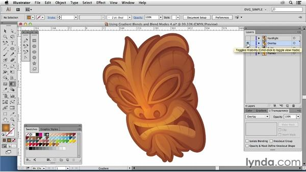 Using gradient blends: Effects: Drawing Vector Graphics: Color and Detail