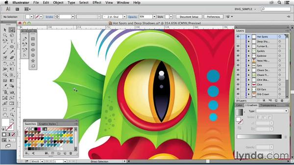 Hot spots and deep shadows: Drawing Vector Graphics: Color and Detail