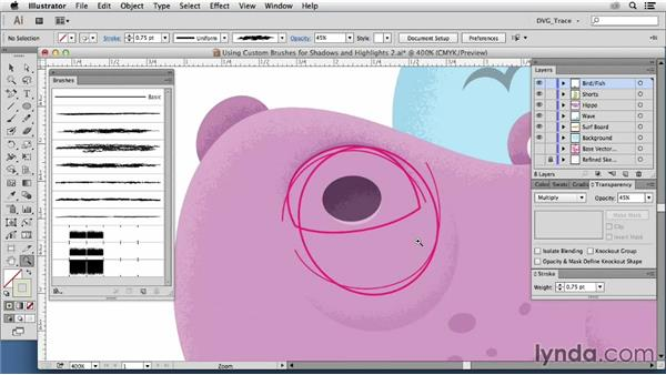 Using custom brushes: Drawing Vector Graphics: Color and Detail