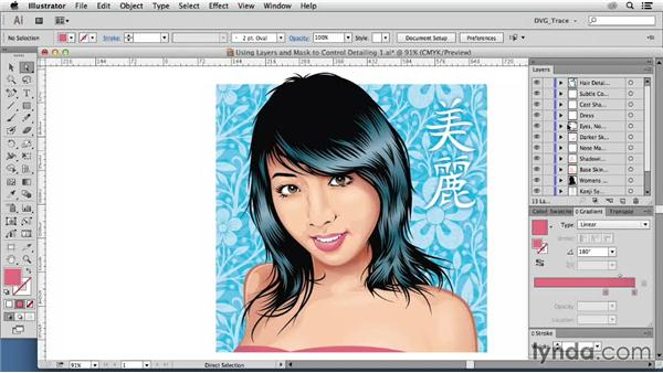 Using layers and masks to control Photoshop effects: Drawing Vector Graphics: Color and Detail