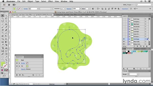 Using the Inner Glow and Outer Glow effects: Drawing Vector Graphics: Color and Detail