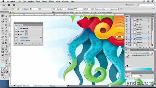 Creating form with the Gaussian Blur effect: Drawing Vector Graphics: Color and Detail