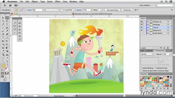 Inspiring illustrators: Rob McClurkan: Drawing Vector Graphics: Color and Detail