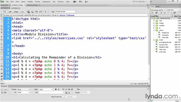 Using modulo division to establish a repeating series: PHP for Web Designers