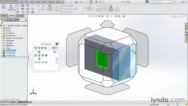 Working with the new view cube, or View Selector: SOLIDWORKS 2014 Essential Training